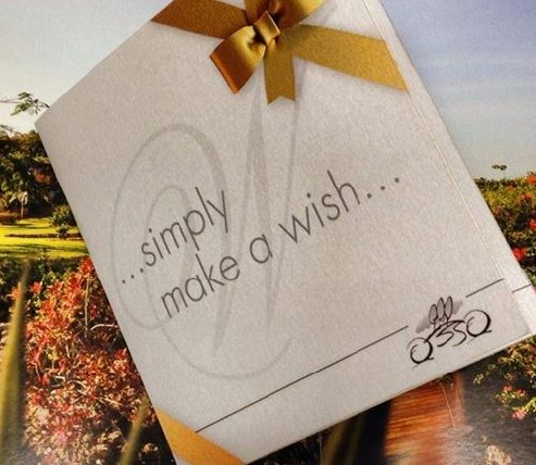 ...simply make a wish...