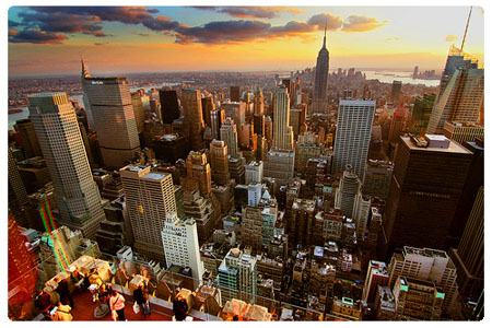 New York, vista dall' alto